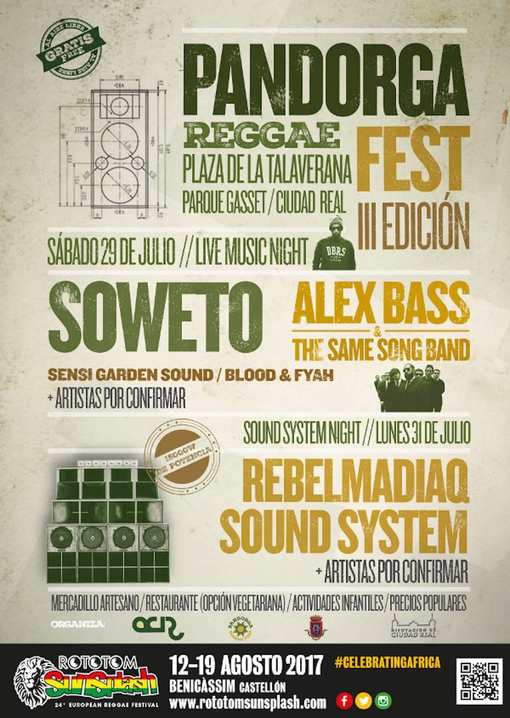 Llega el festival que no te podrás perder: III Pandorga Reggae Fest Ciudad Real 3