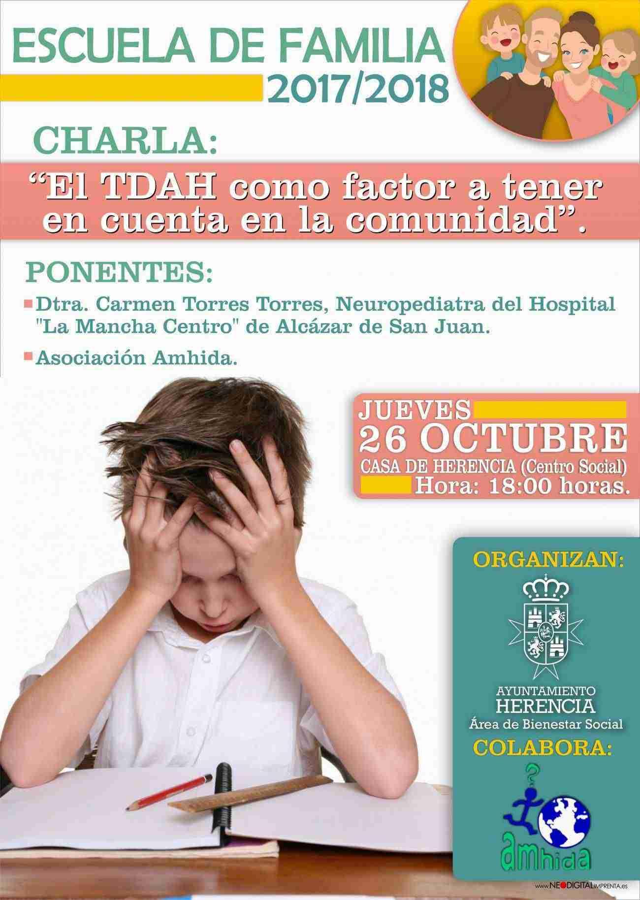 La Escuela de Familia inicia su temporada en Herencia con una charla sobre TDAH 3