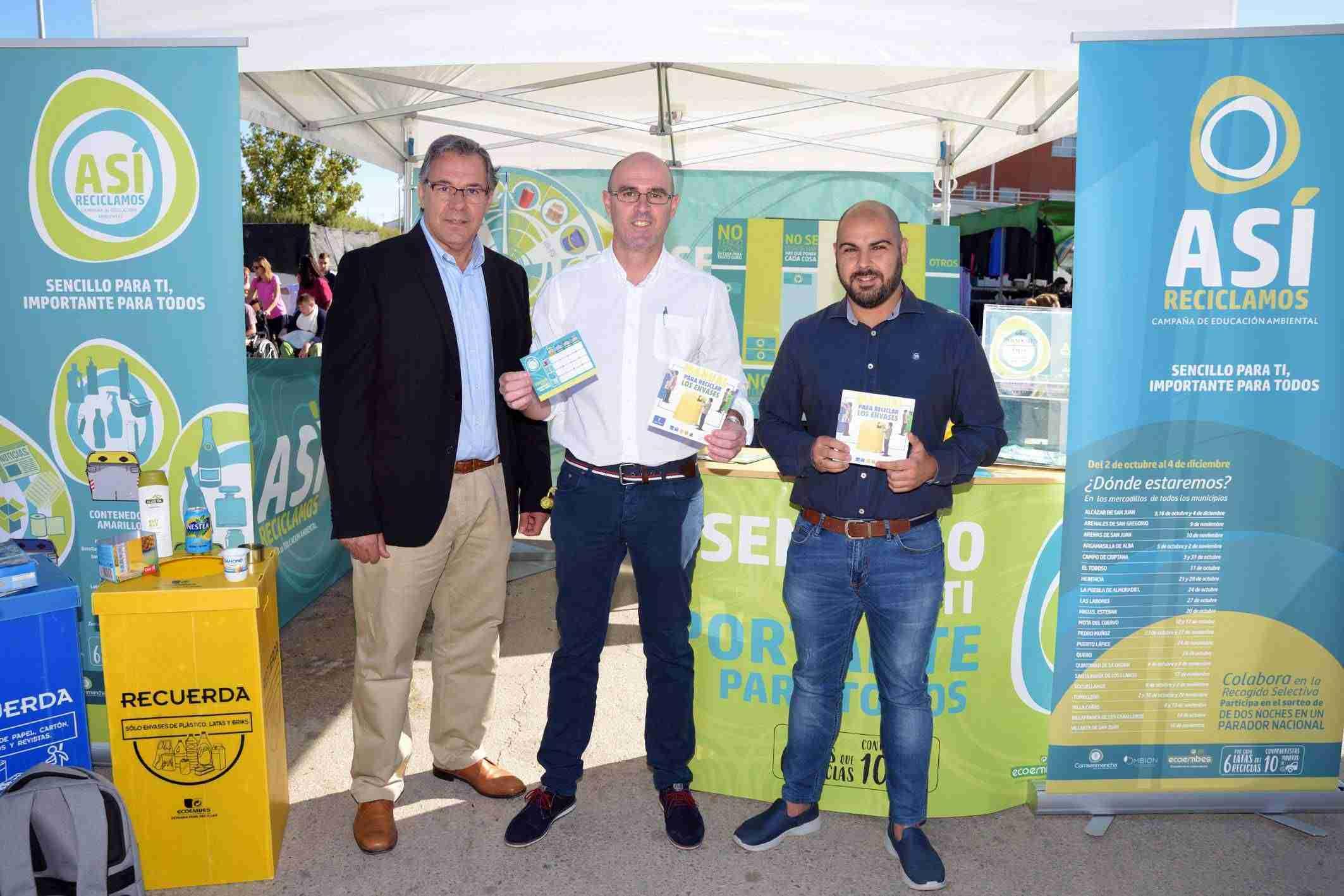 Segunda campaña informativa sobre reciclaje en mercadillos y espacios públicos de Comsermancha 1
