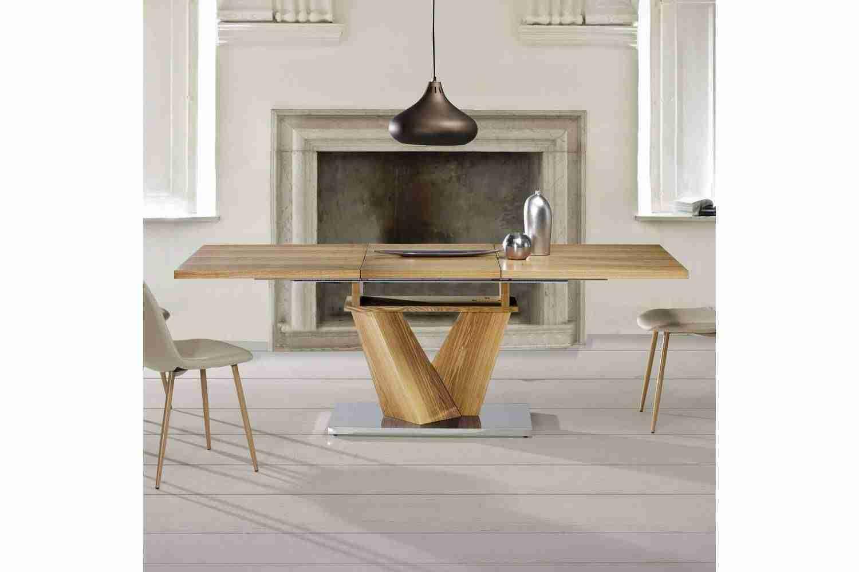 Mesas de comedor de diseño italiano combinadas: madera, cristal y ...