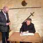 Federico Mayor Zaragoza visita el IES Vicente Cano de Argamasilla de Alba 1