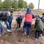Día Forestal Mundial plantando árboles en la vía verde en Argamasilla de Alba 2