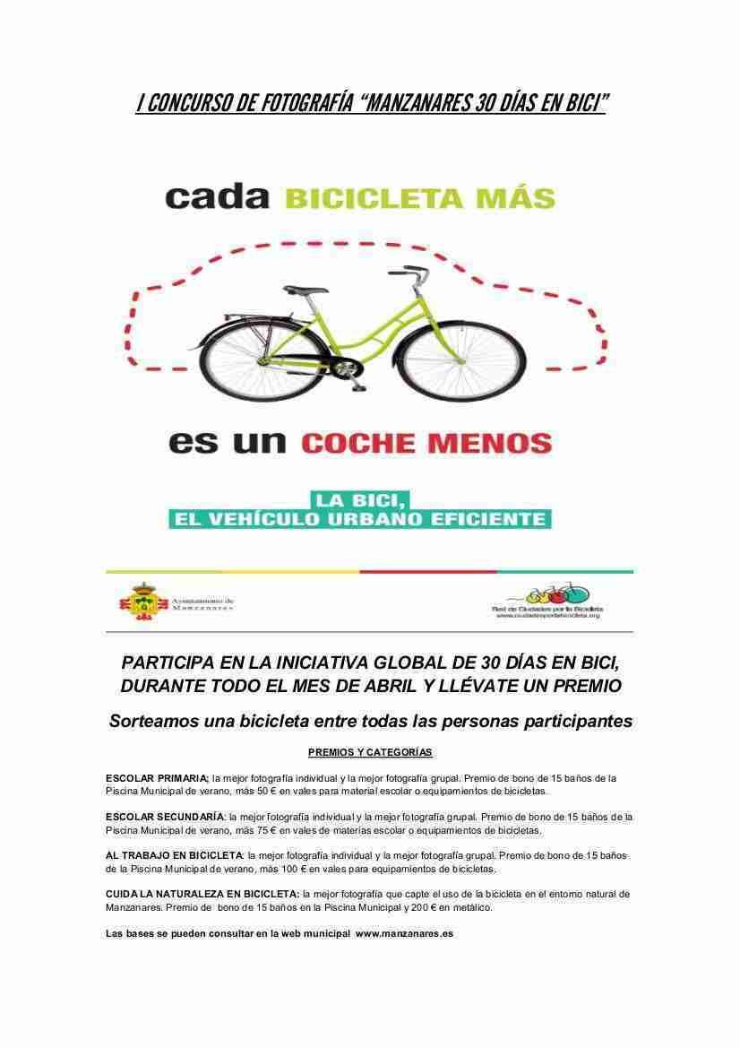 """Manzanares quiere potenciar el uso de la bici con el concuros de fotografías """"30 días en bici"""" 3"""