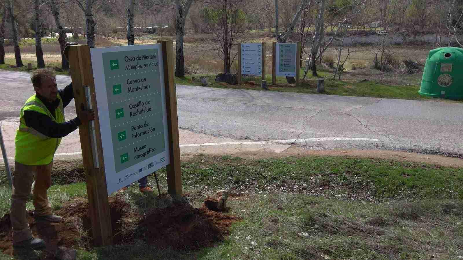 Nueva señalización en el Parque de Las Lagunas de Ruidera 5