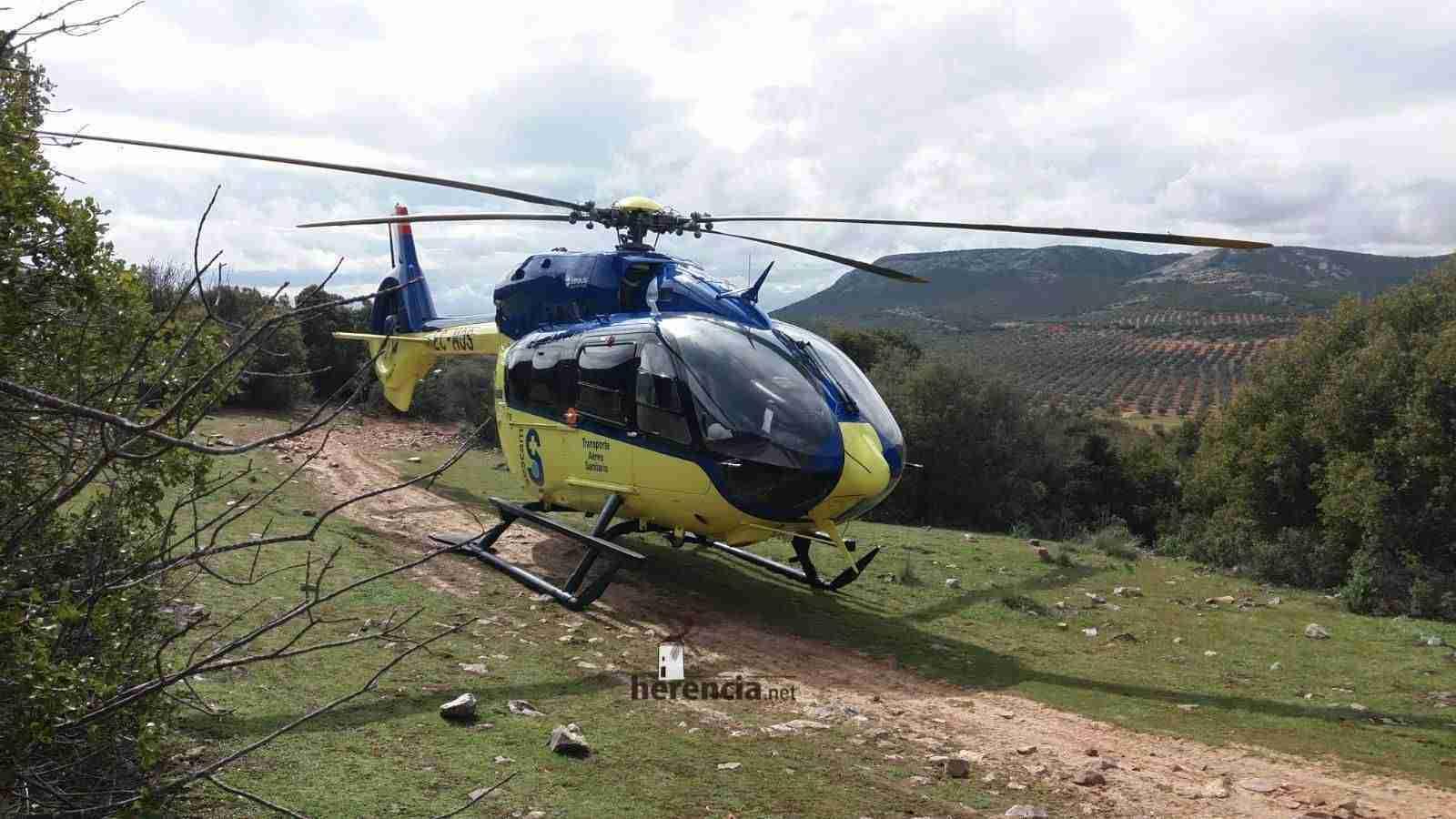 Rescatada una mujer accidentada en La Pedriza en Herencia 1