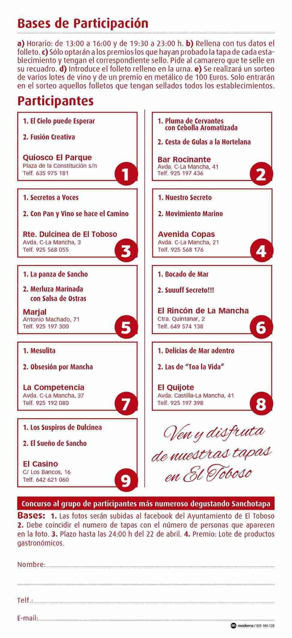VIII Degustación Sancho Tapas 2018 en El Toboso 3
