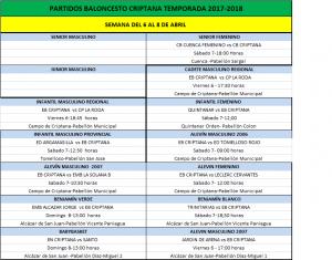 Previa del Baloncesto Criptana para el fin de semana 5