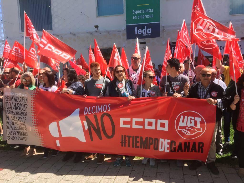 Jornada de lucha de UGT y CCOO hoy en las cinco capitales 2