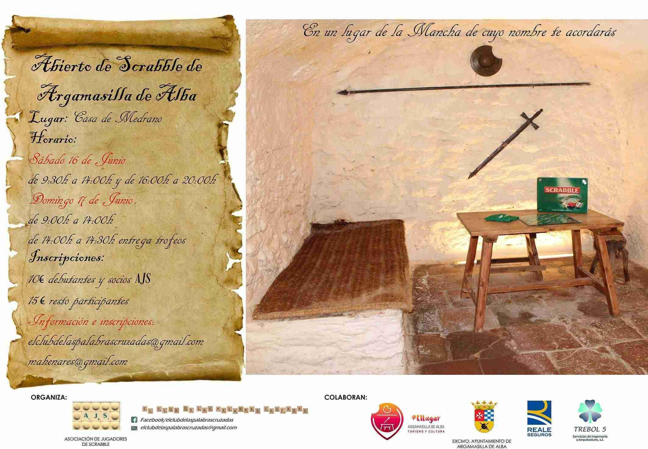 Argamasilla de Alba acogerá a mediados de junio el Abierto de Scrabble 1