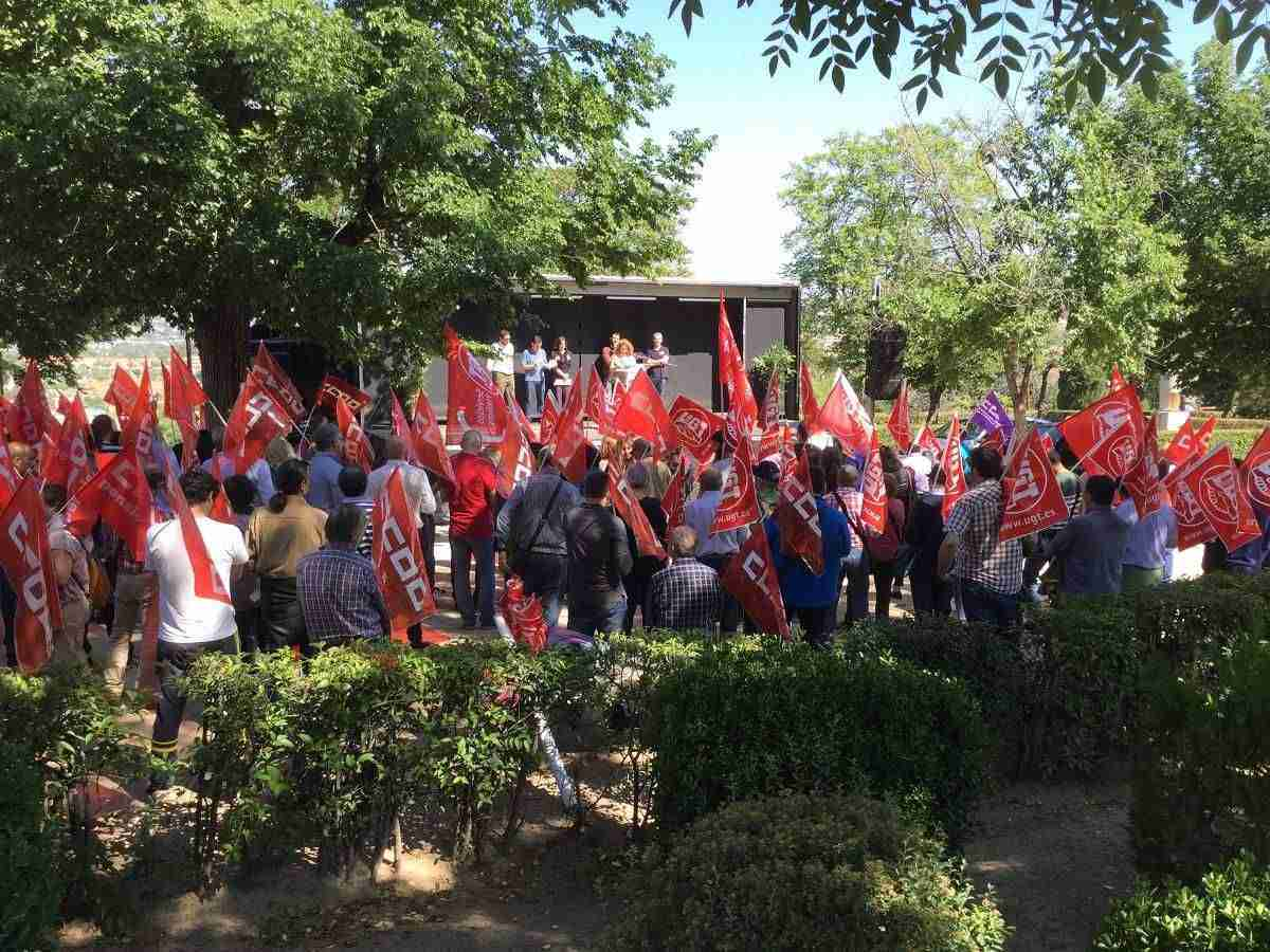 Jornada de lucha de UGT y CCOO hoy en las cinco capitales 1