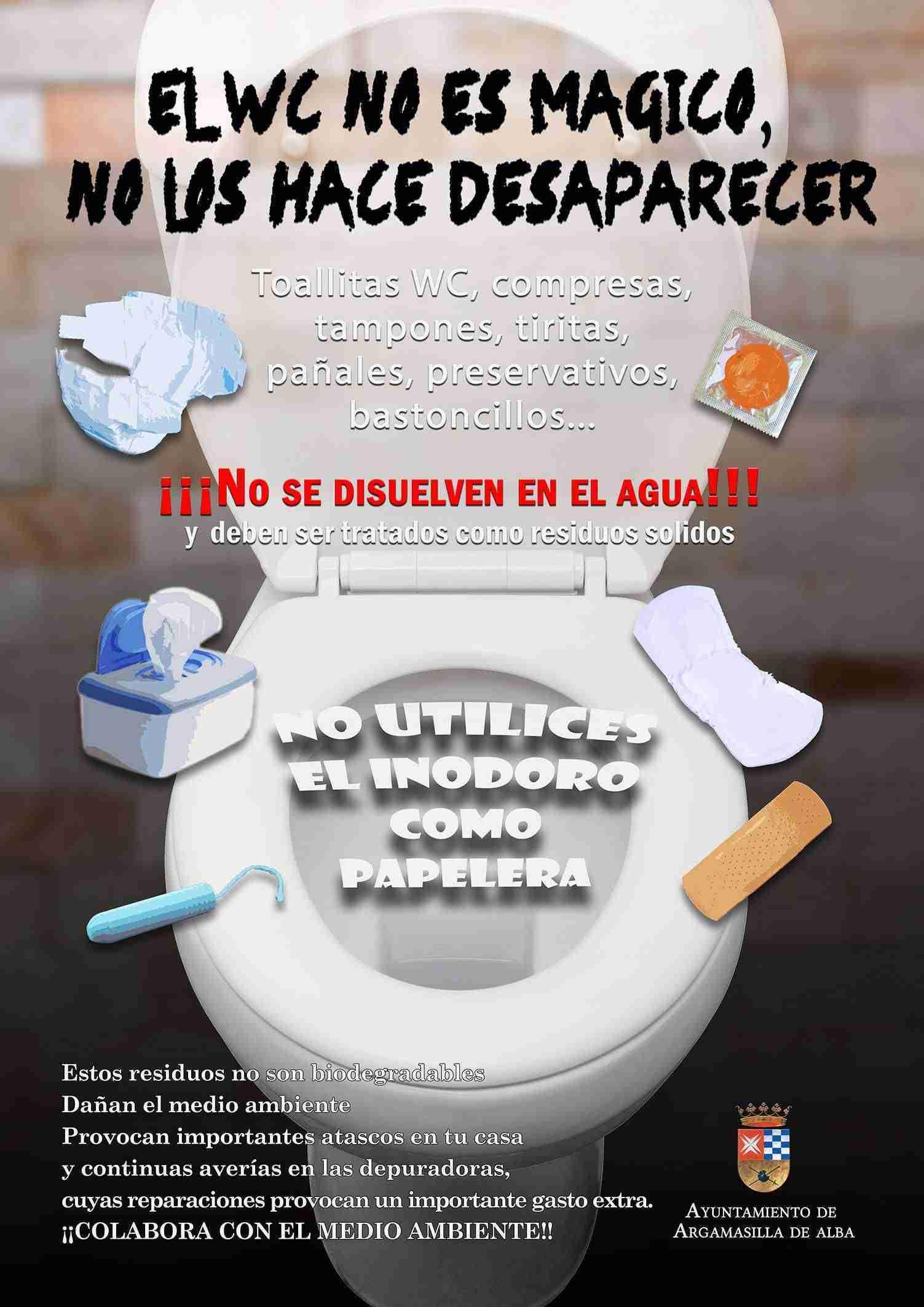 Campaña contra el vertido de toallitas en el inodoro desde Argamasilla de Alba 1