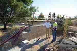 Una pasarela de madera abrirá paso a la vía verde sobre el cauce del Guadiana 5