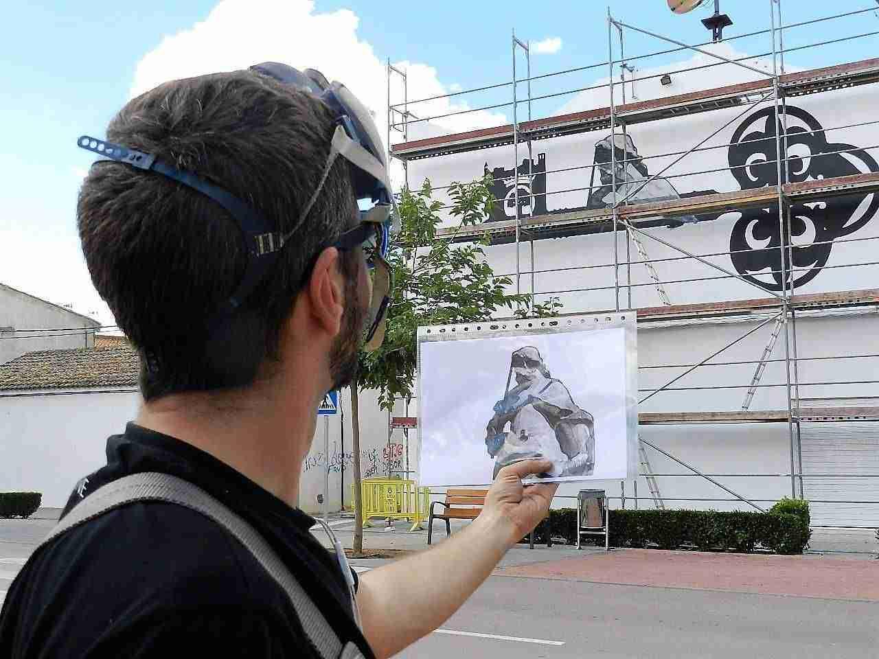 700 Aniversario Mural Fran Campoy en Quintanar de la Orden 3
