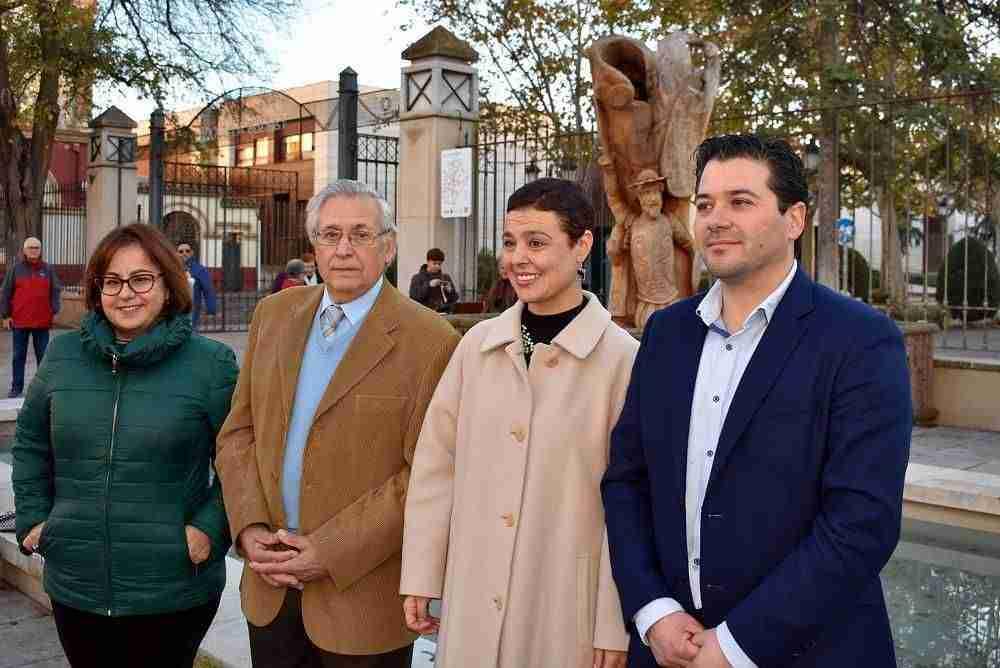 Inaugurada la escultura del Quijote y Sancho