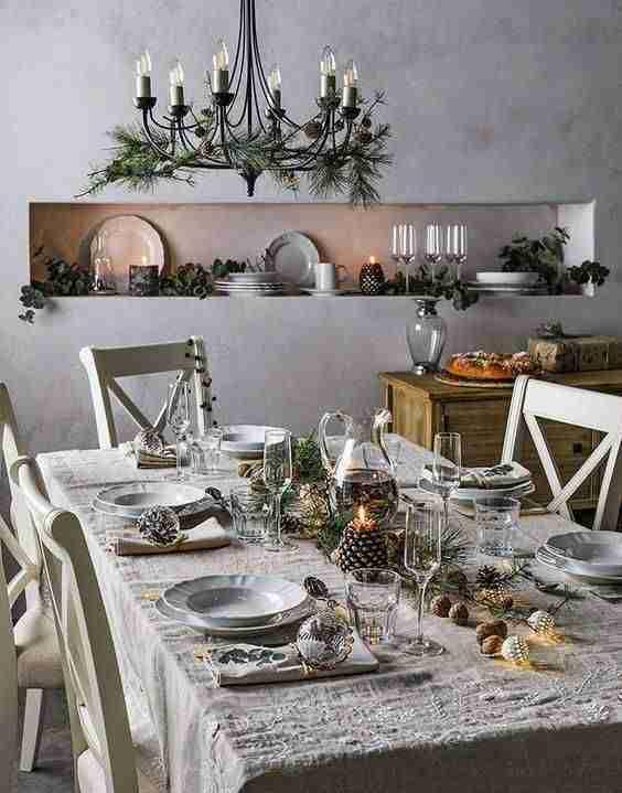 decorar la mesa en Navidad III