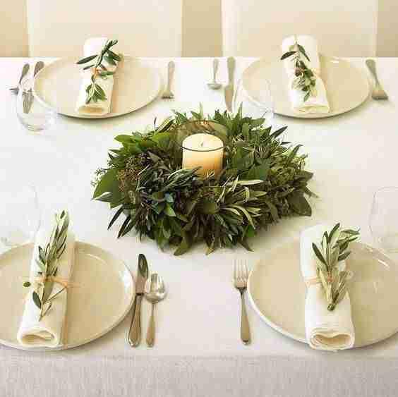 decorar la mesa en Navidad VIII