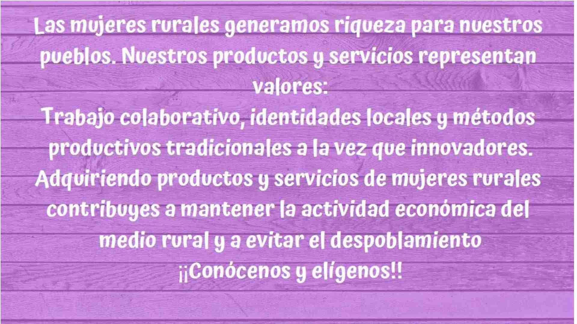 Productos de mujeres rurales para promocionar los canales cortos de comercialización 20