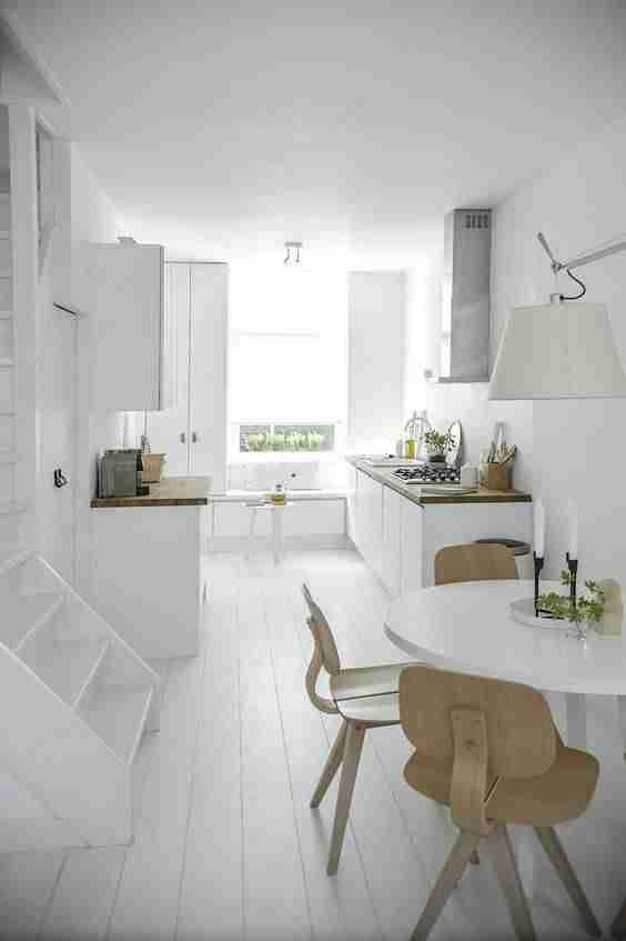cocinas en blanco y madera II