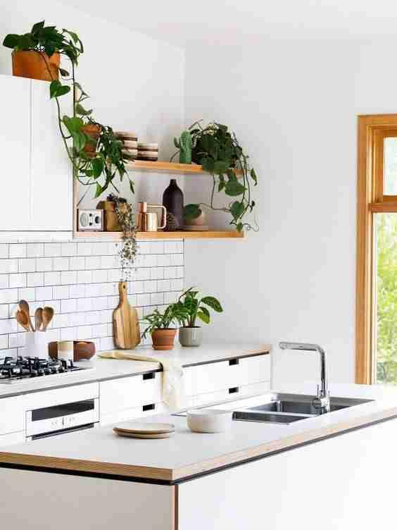 cocinas en blanco y madera III