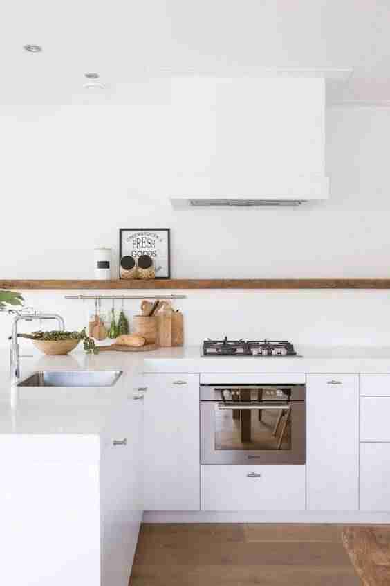 cocinas en blanco y madera V