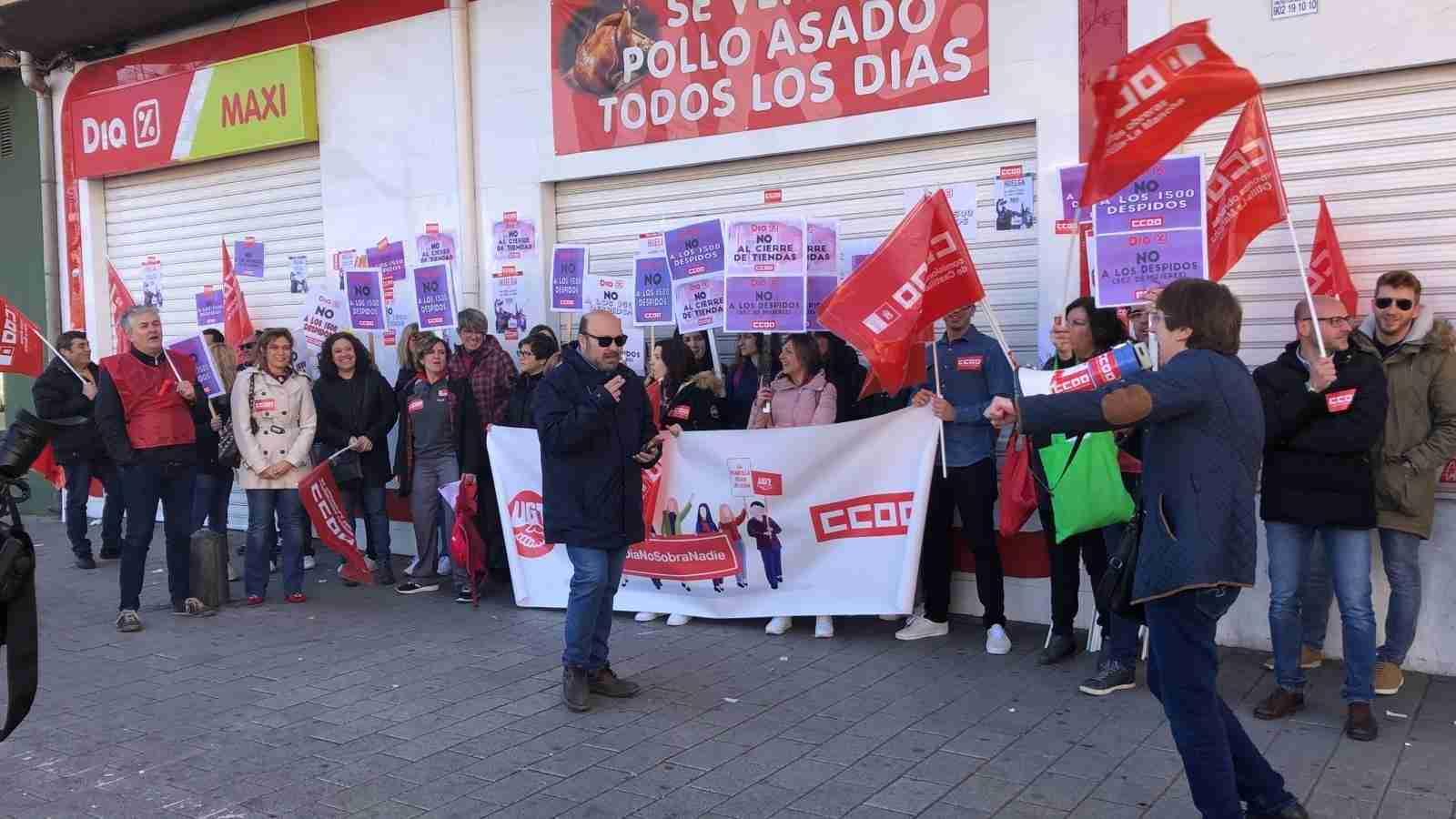 Éxito rotundo en CLM de los paros convocados por CCOO-Servicios contra el ERE de las tiendas DIA 11