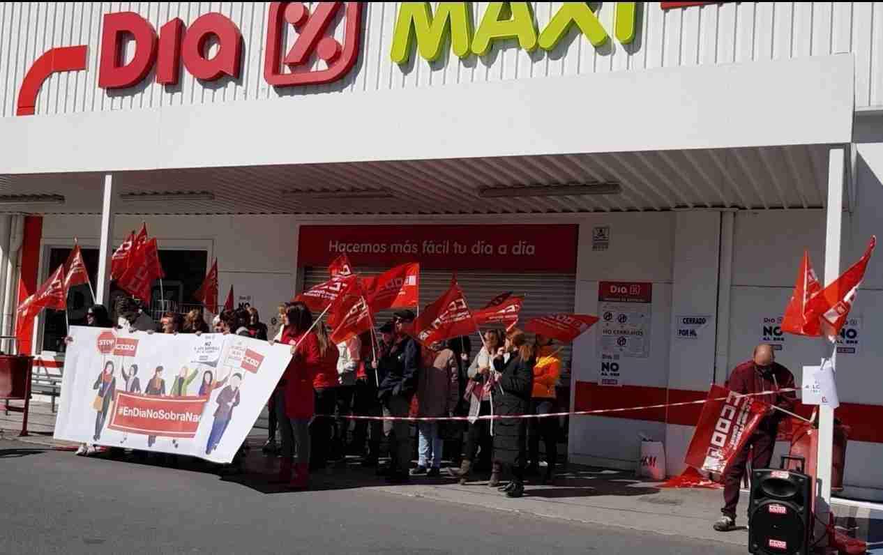 Éxito rotundo en CLM de los paros convocados por CCOO-Servicios contra el ERE de las tiendas DIA 10