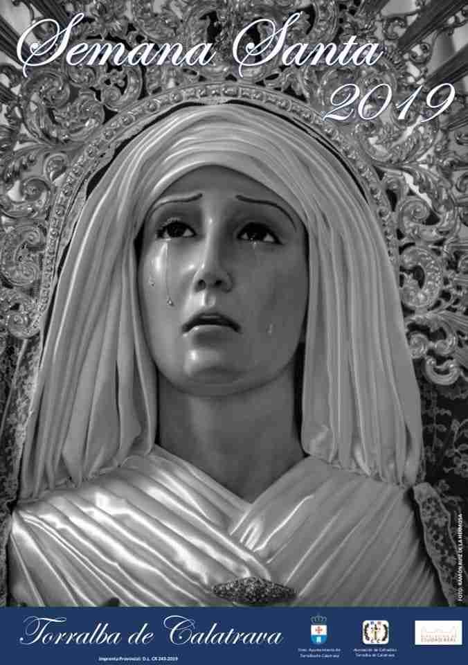 El rostro de la Virgen de la Veracruz protagoniza el cartel de la Semana Santa 2019 de Torralba de Calatrava 1
