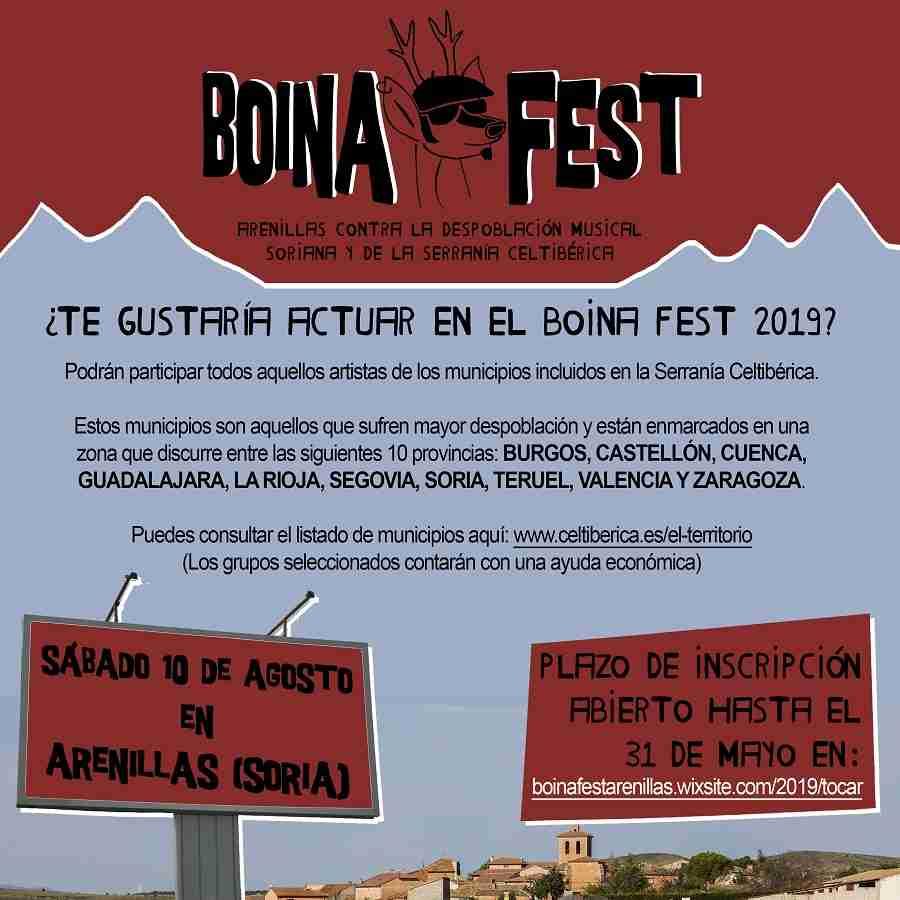 El primer festival contra la despoblación, Boina Fest, crece en su 5ª edición convocando a artistas de las provincias más despobladas de Castilla-La Mancha 2