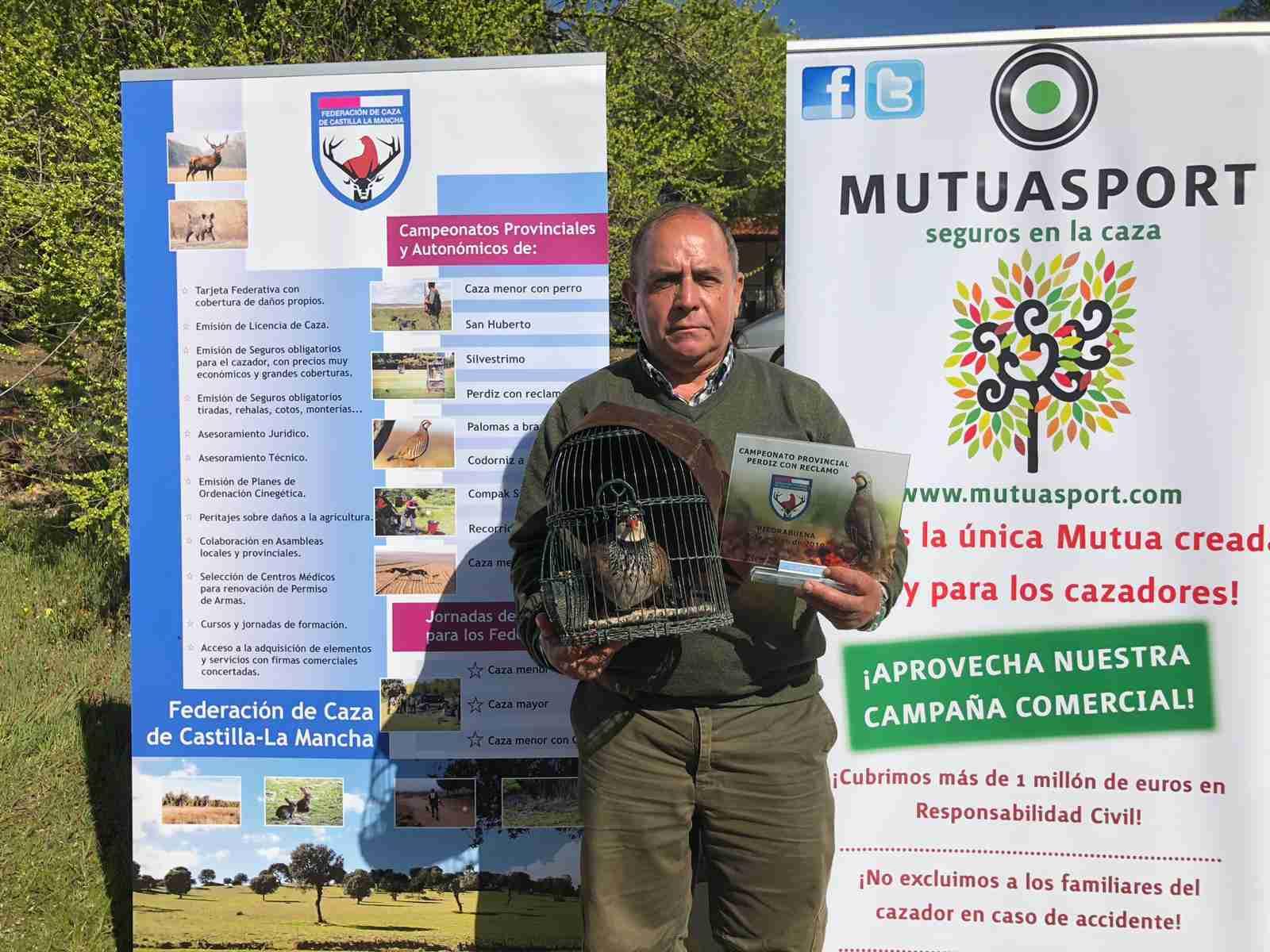 Julián Acero Castillo, campeón provincial de perdiz con reclamo 2