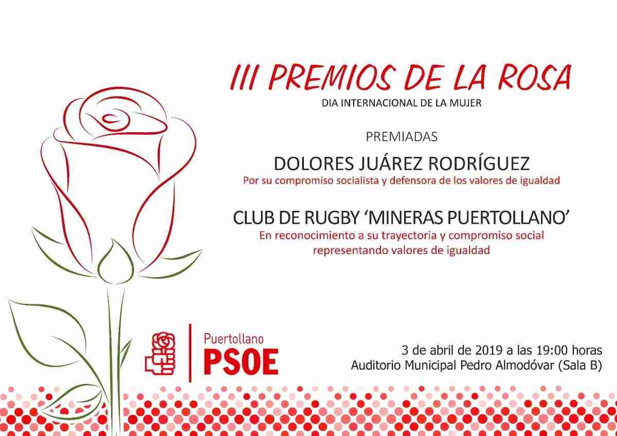 3ª edición de los Premios de la Rosa organizados los socialistas de Puertollano 1