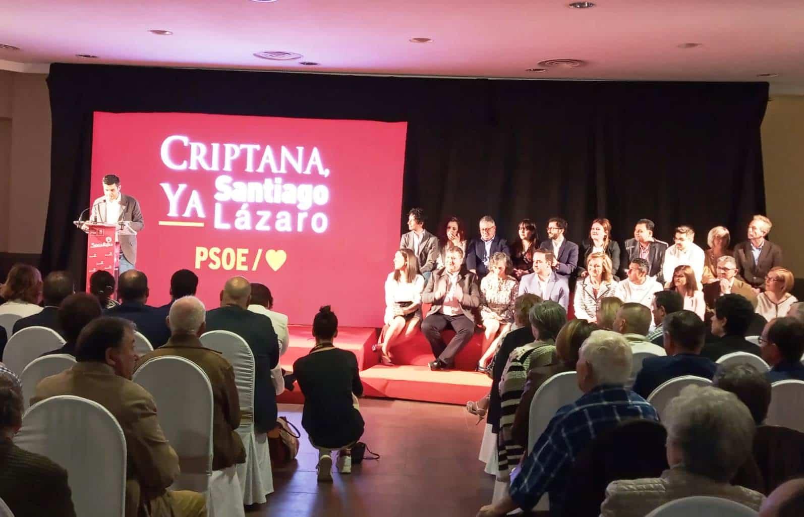 """El PSOE de Campo de Criptana presenta la lista de hombres y mujeres que ayudarán a Santiago Lázaro a """"dar vida a localidad"""" 2"""
