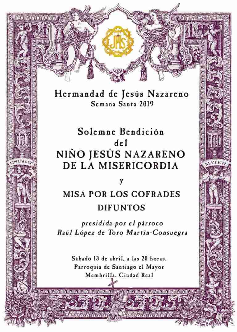 El Niño Jesús Nazareno de la Misericordia, la nueva imagen de la Semana Santa de Membrilla, será bendecido el próximo 13 de abril