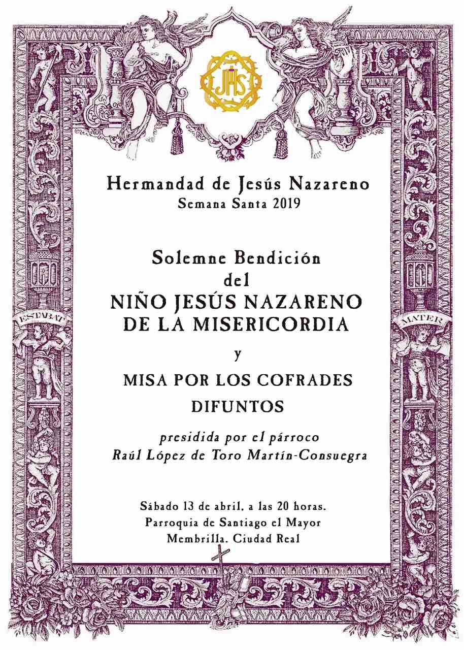 El Niño Jesús Nazareno de la Misericordia, la nueva imagen de la Semana Santa de Membrilla, será bendecido el próximo 13 de abril 2
