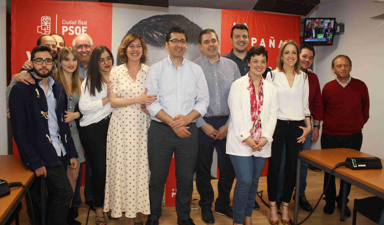 """Caballero celebra el """"magnífico"""" resultado del PSOE,que gana las Elecciones Generales en la provincia de Ciudad Real con casi 100.000 votos 1"""