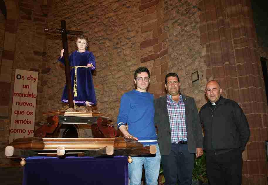 Membrilla recibe al Niño Jesús Nazareno de la Misericordia, la nueva talla de su Semana Santa 2
