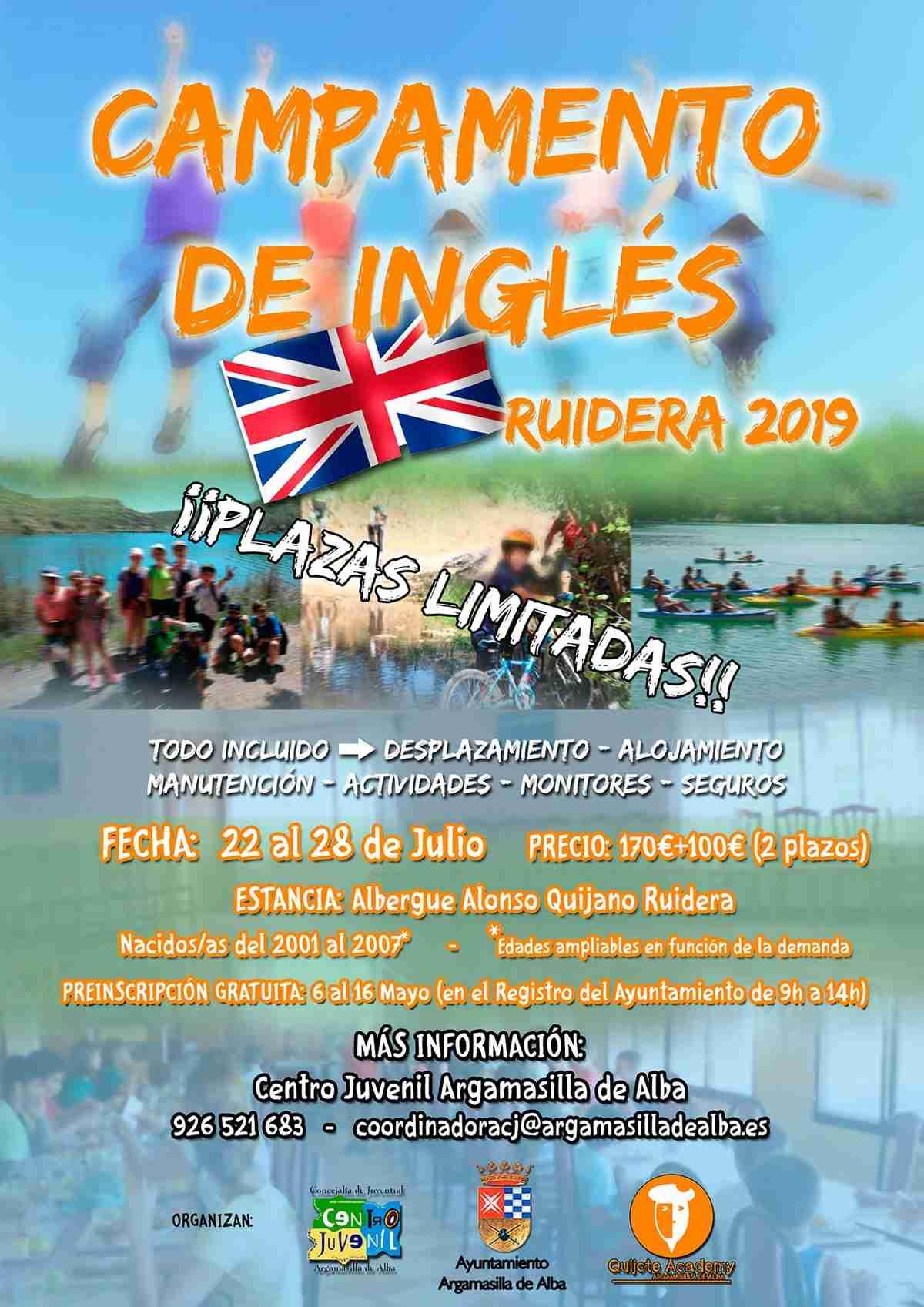 Campamento Juvenil de Inglés con el Ayuntamiento de Argamasilla de Alba y Quijote Academy 1