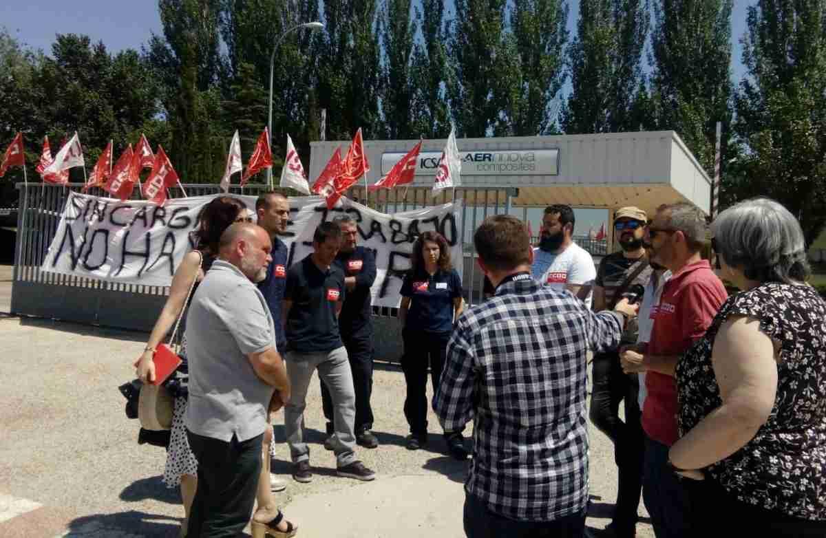 Comienzan los paros en ICSA para exigir al grupo Aernnova carga de trabajo que garantice el empleo 1