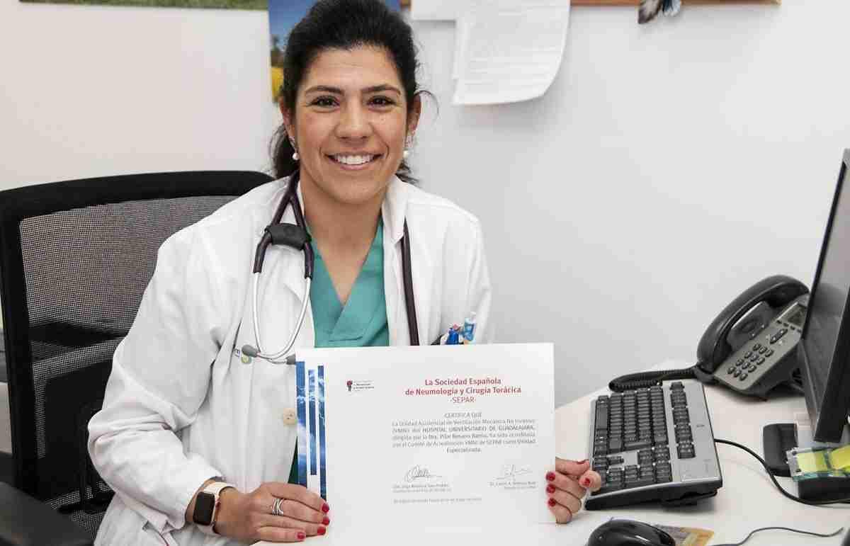 El servicio de Neumología del Hospital Universitario de Guadalajara recibe acreditación 1