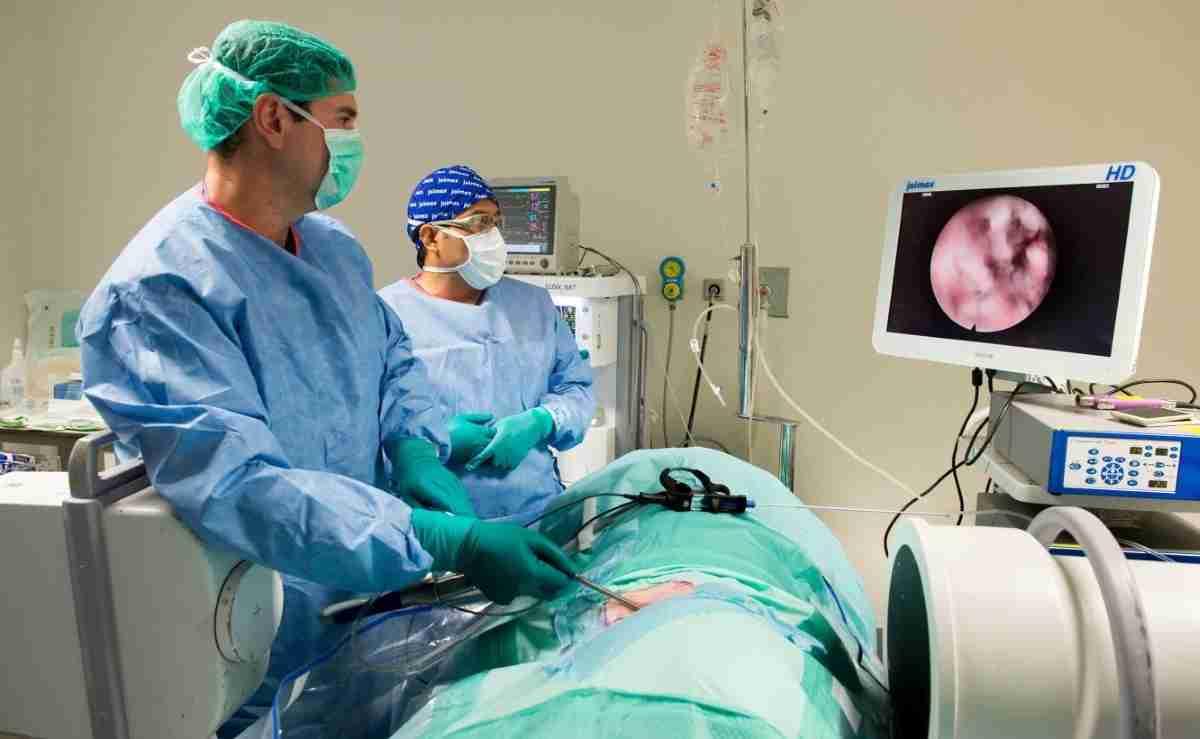Curso de cirugía endoscópica de la columna vertebral en la Unidad de Cirugía Experimental del Hospital Nacional de Parapléjicos 1