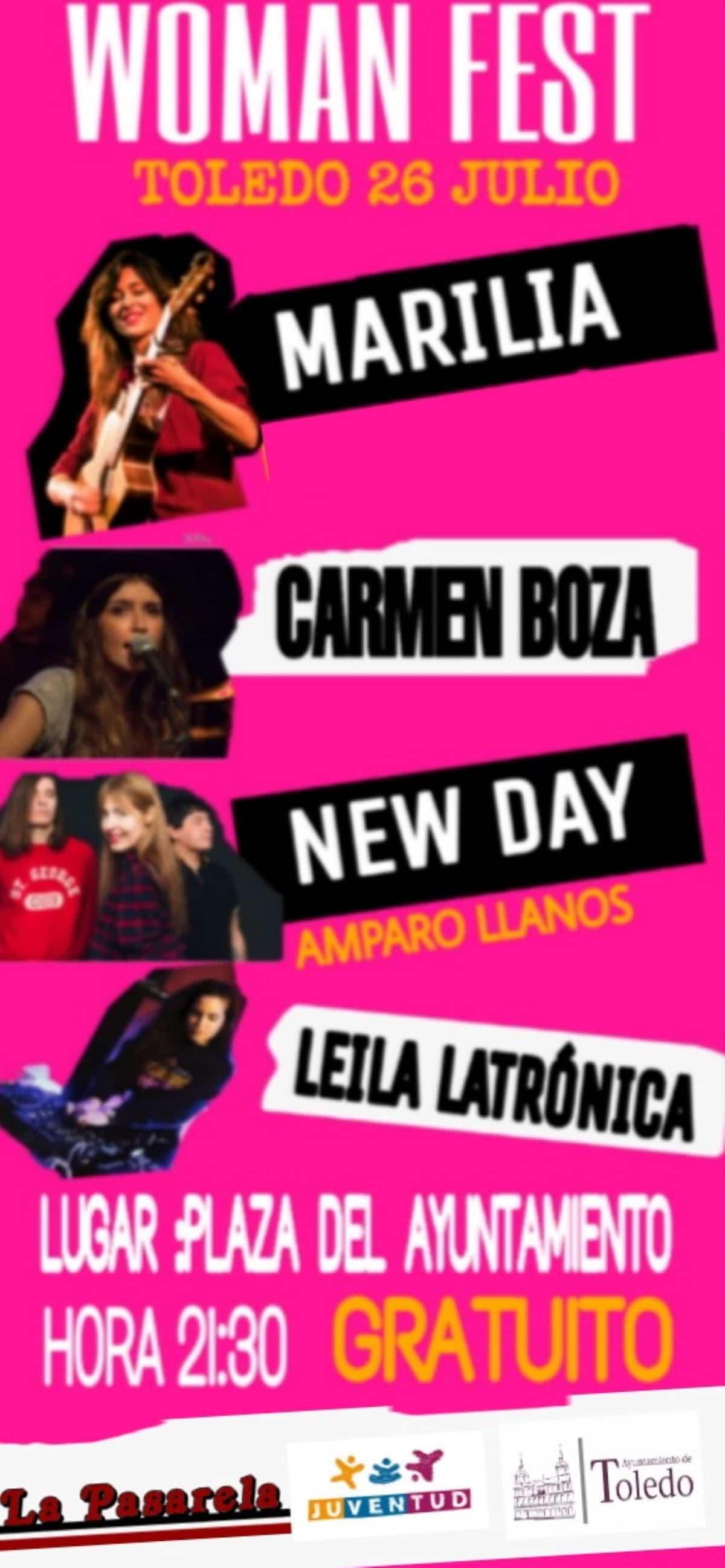 Primer Festival Woman Fest se celebrará este viernes en la plaza del Ayuntamiento de Toledo 1