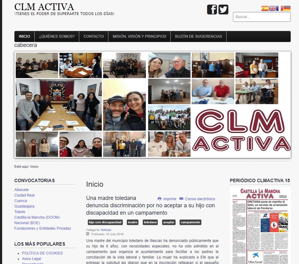 www.castillalamanchaactiva.es superó el millón de visitantes 1