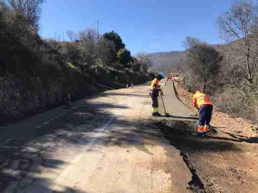 Avanza el Plan de Carreteras de la Sierra de San Vicente del Gobierno regional 1