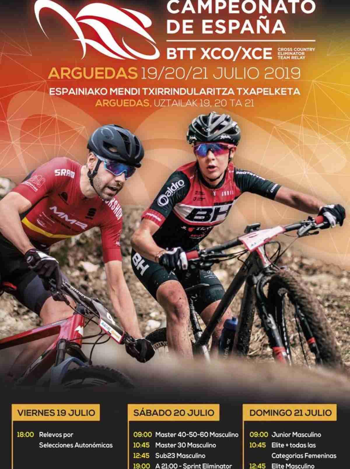 Listado de bikers de Castilla-La Mancha que disputarán el Campeonato de España BTT XCO/XCE 1