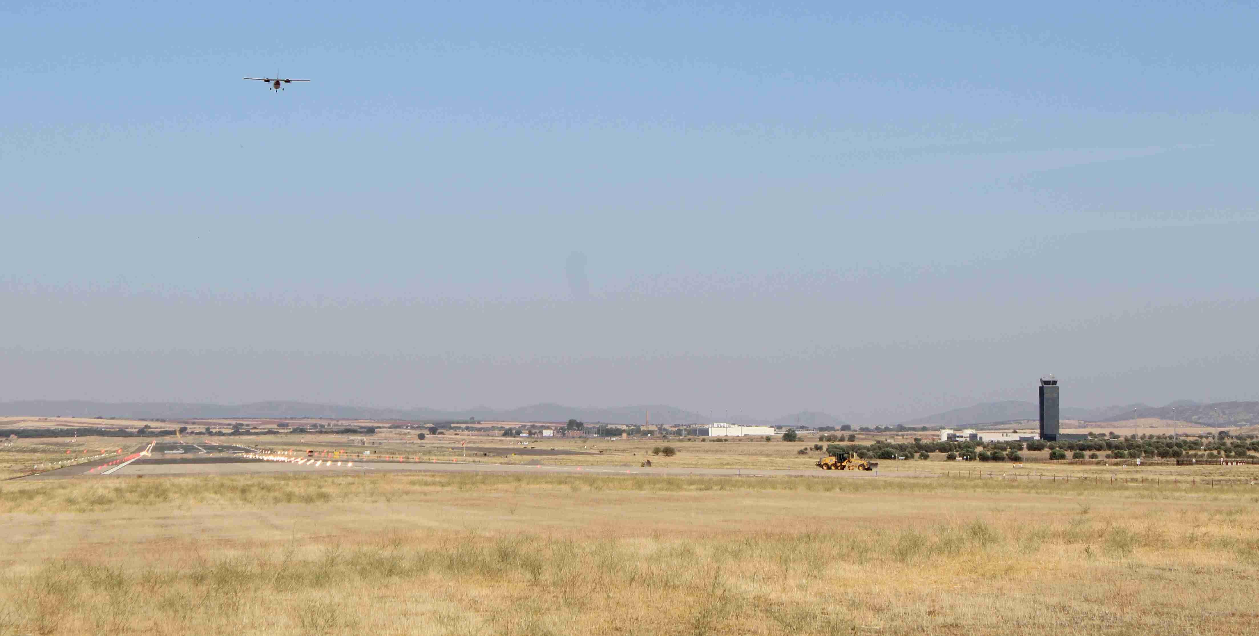 El Aeropuerto de Ciudad Real realiza un nuevo vuelo de comprobación de sistemas 2