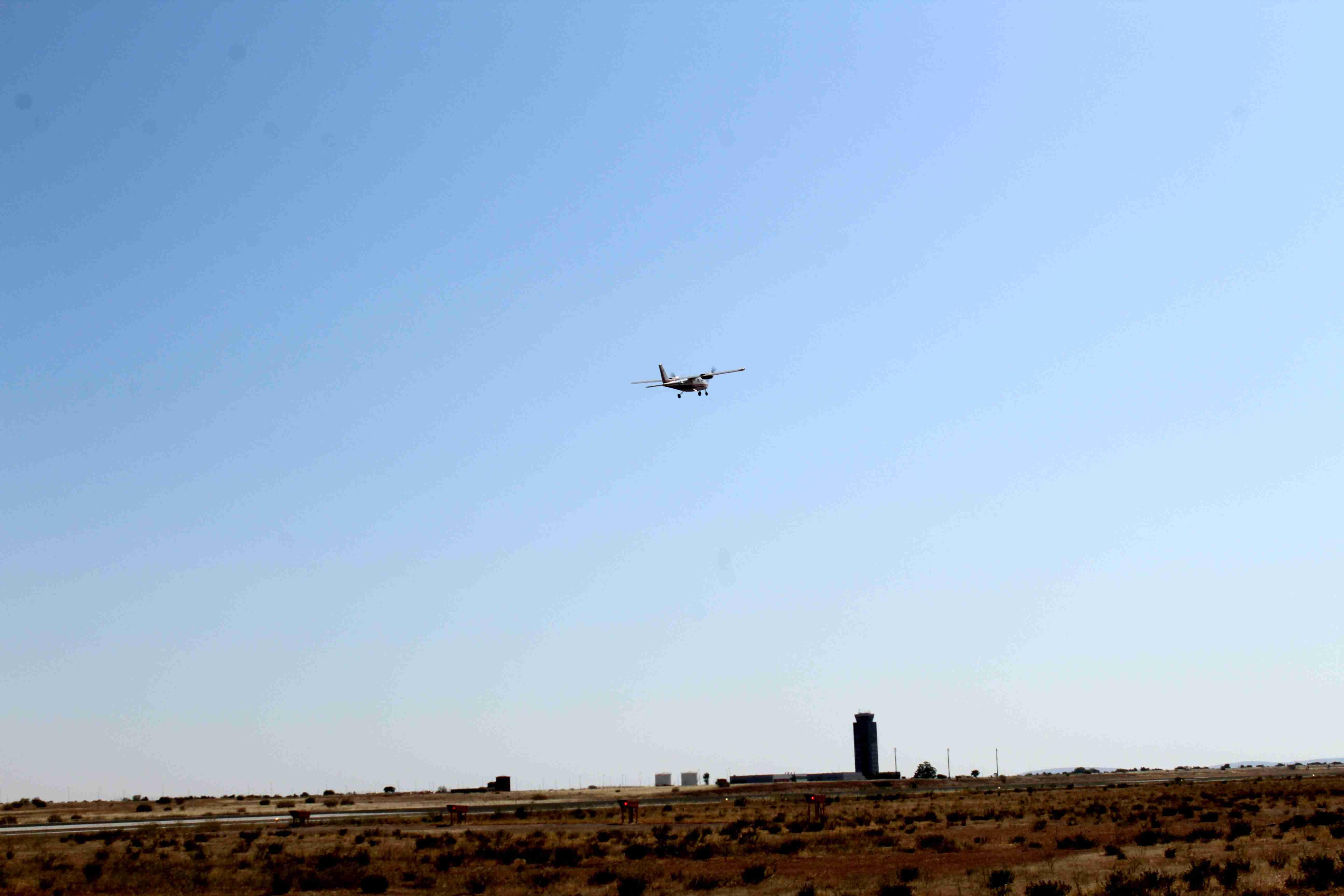 El Aeropuerto de Ciudad Real realiza un nuevo vuelo de comprobación de sistemas 5
