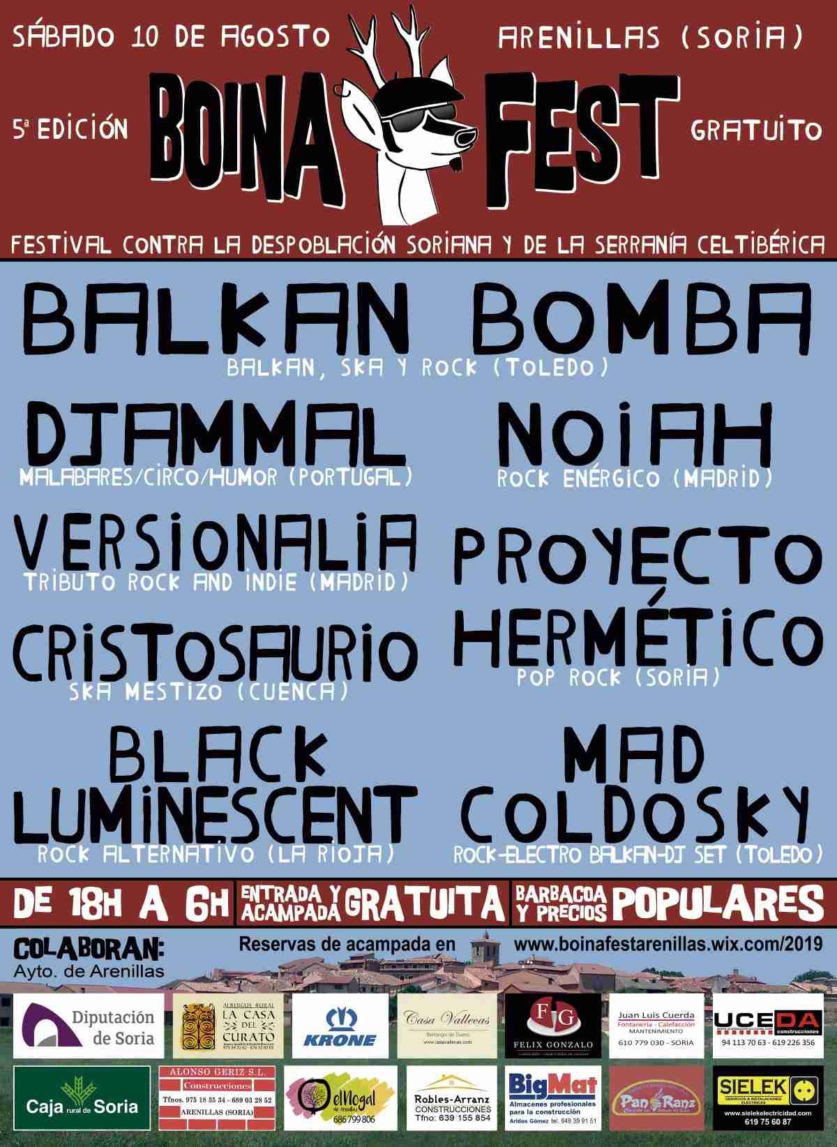 1er festival contra la despoblación Boina Fest en Arenillas Soria este 10 de agosto 1