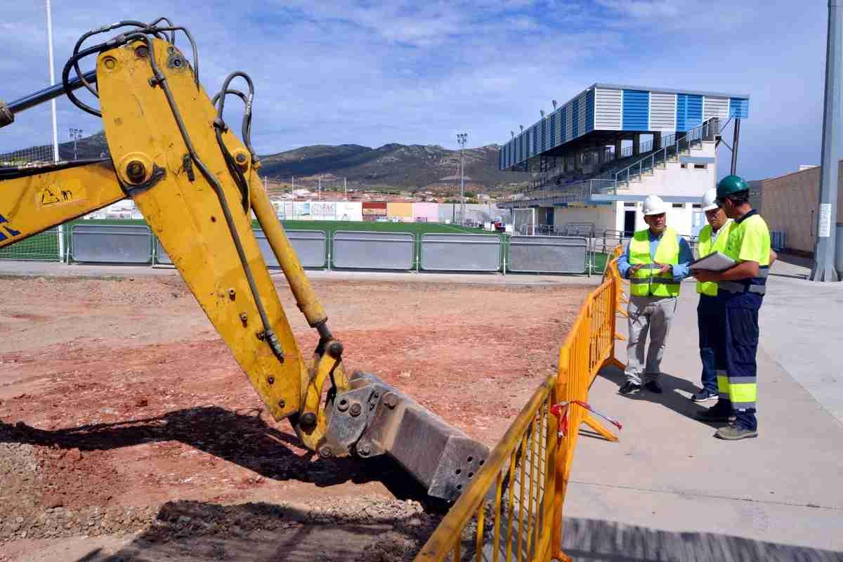 Obras en el Campo de Fútbol de Villarrubia de los Ojos para adecuarlo a la normativa de 2ª División B concluirán el 20 de agosto 2