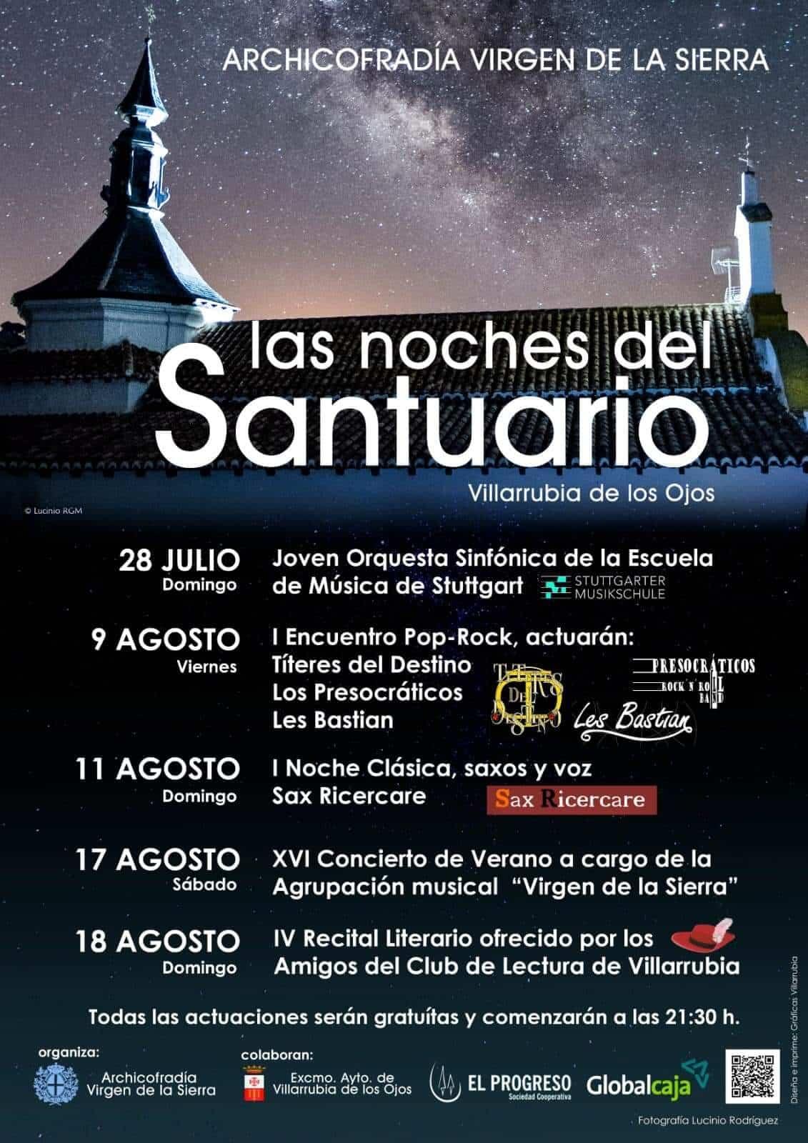"""Música en directo en Villarrubia de los Ojos en """"Las Noches del Santuario"""" 1"""