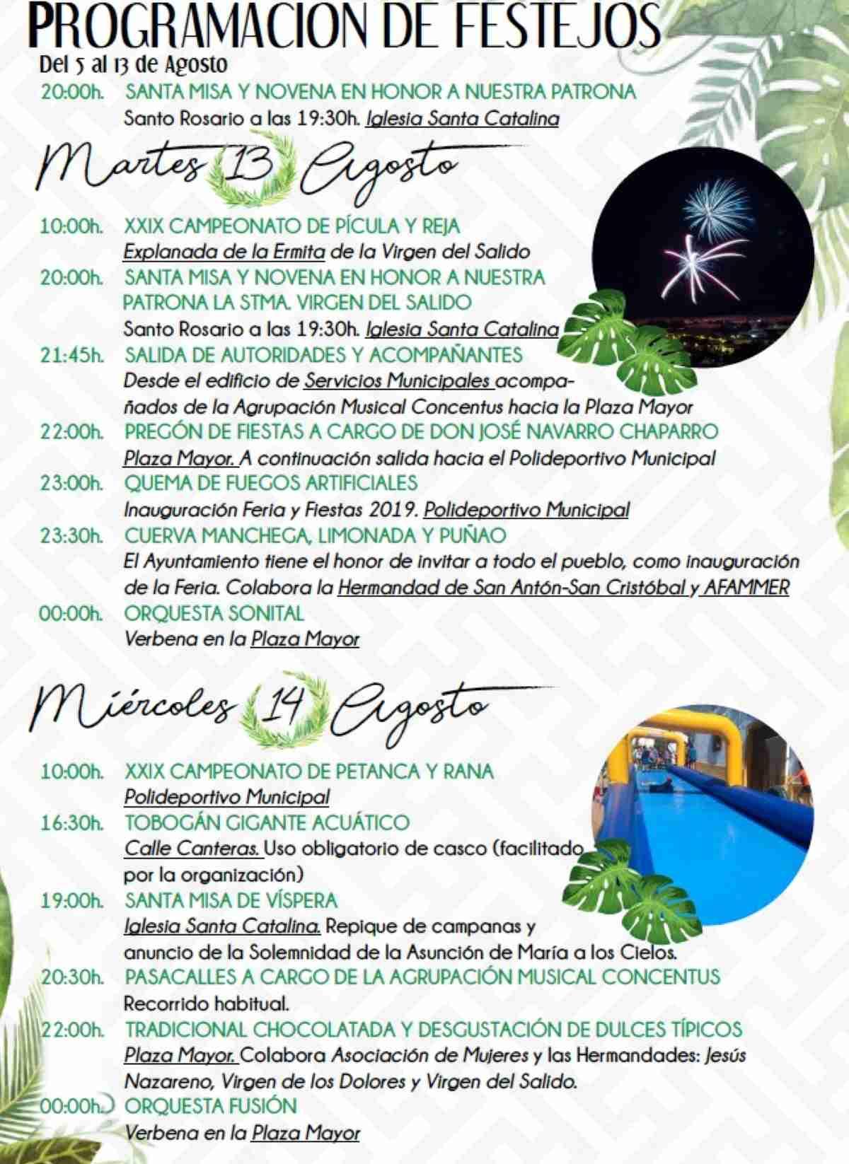 Carrizosa (Ciudad Real) invita a sus Fiestas de la Virgen del Salido del 13 al 16 de agosto 2