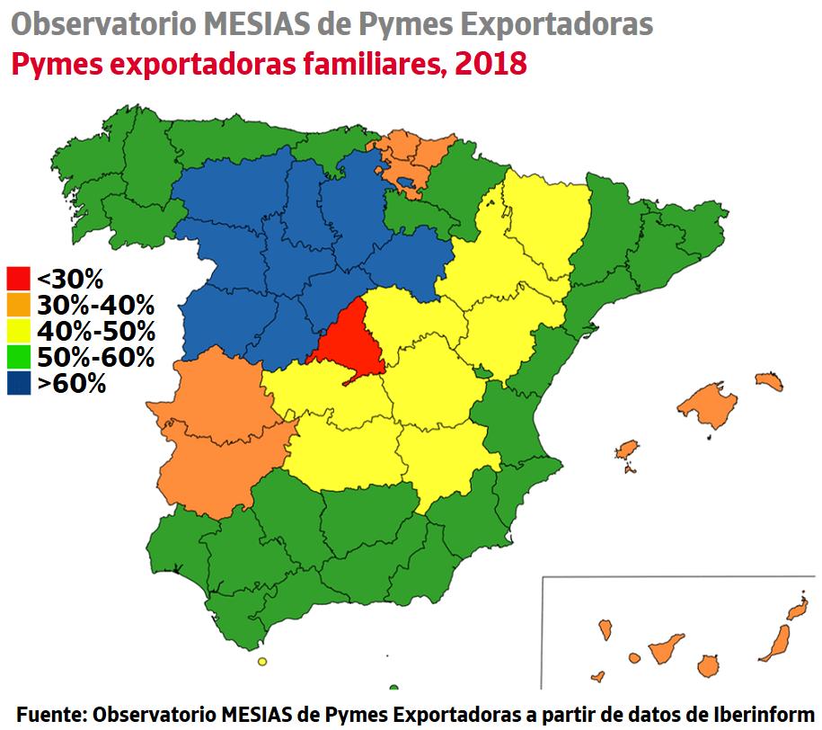 Castilla y León lidera el ranking de concentración de empresa familiar en las pymes exportadoras 3